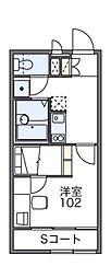 レオパレス マロンハイツ3[2階]の間取り