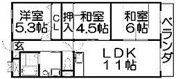 枚方壱番館[4階]の間取り