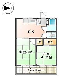 アイドル荘@[1階]の間取り