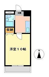 愛知県豊田市桜町2丁目の賃貸マンションの間取り