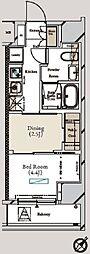 ミュプレ月島 11階1DKの間取り
