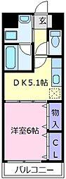 アミアミマンション[4階]の間取り