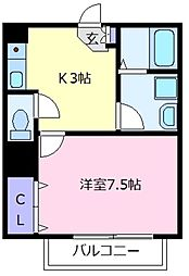 ルミエールメゾン[2階]の間取り