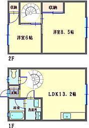 [テラスハウス] 神奈川県川崎市川崎区塩浜2丁目 の賃貸【/】の間取り
