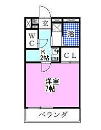 千葉県船橋市習志野台1丁目の賃貸アパートの間取り
