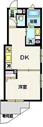 (仮称)目黒本町5丁目計画 1階1DKの間取り