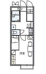 レオパレス二本木[1階]の間取り