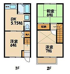 メゾン松本 1階3DKの間取り