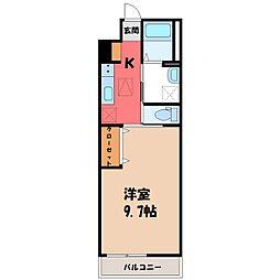 La Famille(ラ・ファミーユ) 1階1Kの間取り