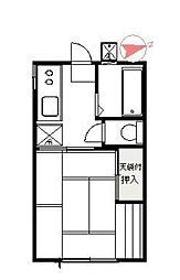 第3川荘[101号室]の間取り