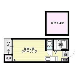 福岡県福岡市博多区千代4丁目の賃貸アパートの間取り