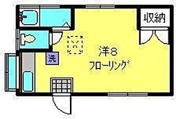神奈川県横浜市南区六ツ川2丁目の賃貸アパートの間取り