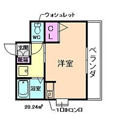 COMORISTAR豊中[2階]の間取り