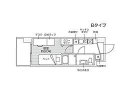 JR越後線 新潟大学前駅 徒歩5分の賃貸マンション 1階1Kの間取り