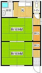 ひまわり荘[106号室]の間取り