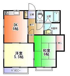サンハイツ金子[1階]の間取り