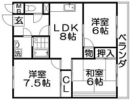 秋山ビル[3階]の間取り