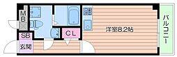 大阪モノレール彩都線 豊川駅 徒歩8分の賃貸マンション 1階1Kの間取り
