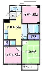 TWIN HILL松幸苑 3号棟[2階]の間取り