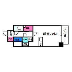 SOAR NAGAI EKIMAE 6階ワンルームの間取り