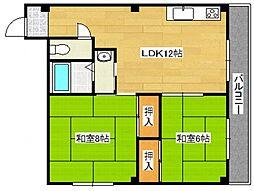 アビルマンション[2階]の間取り