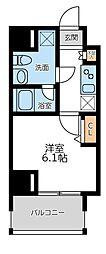 プライマル横濱平沼橋 7階1Kの間取り