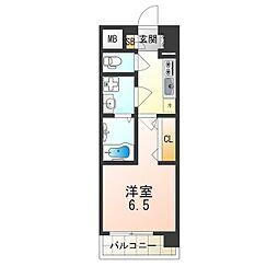 おおさか東線 JR淡路駅 徒歩2分の賃貸マンション 5階1Kの間取り