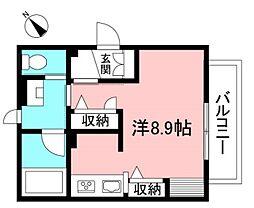 仮)狛江市中和泉3丁目シャーメゾン 1階ワンルームの間取り