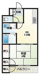 タウンハイツV[2階]の間取り