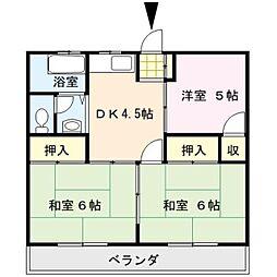 福寿コーポ[202号室]の間取り