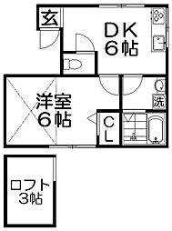 ライド・レシデンス[3階]の間取り