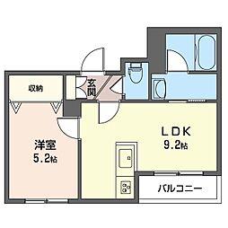 仮)渋谷区恵比寿2丁目シャーメゾン 2階1LDKの間取り