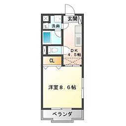 愛知県豊橋市西幸町字浜池の賃貸マンションの間取り