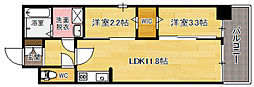 modern palazzo天神南[8階]の間取り