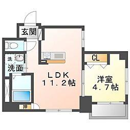 Ciel Kaya 5階1LDKの間取り