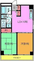 プレジデントビル[4階]の間取り