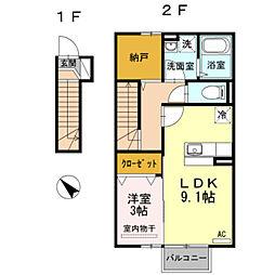 LATOUR[2階]の間取り