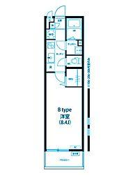 リブリ宮崎台[2階]の間取り