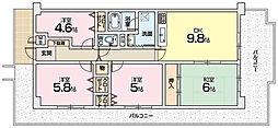 アンビエント枚方公園[7階]の間取り