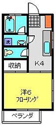 ツインハイツA[202号室]の間取り