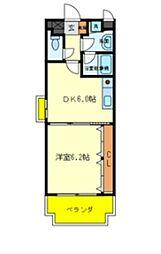 Casa Despacio 2階1DKの間取り