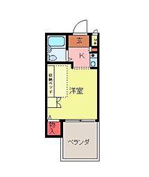 キャッスルマンション坂戸[2階]の間取り