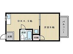 第二植原マンション[1階]の間取り