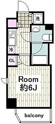 グランヴァン横濱反町 4階1Kの間取り