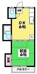 冨士荘[2階]の間取り