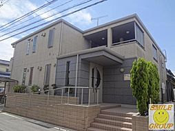 千葉県市川市下新宿の賃貸アパートの外観