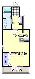 メゾン・ゆう[1階]の間取り