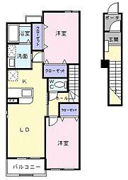 アイビーガーデンC[2階]の間取り