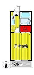 ダイワコーポII[2階]の間取り