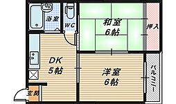 フォンタル7[3階]の間取り